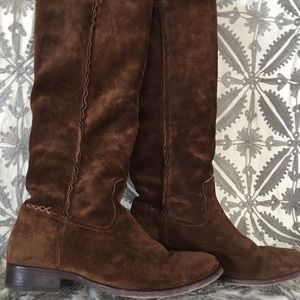 Frye, knee high suede boots. Size 7